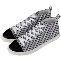 Geometric Scales Pattern Men s Mid Top Canvas Sneakers by jumpercat