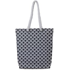Geometric Scales Pattern Full Print Rope Handle Tote (small)