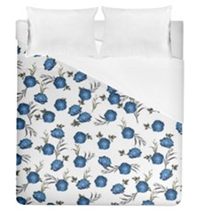 Blue Roses Duvet Cover (queen Size)
