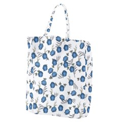 Blue Roses Giant Grocery Zipper Tote by jumpercat