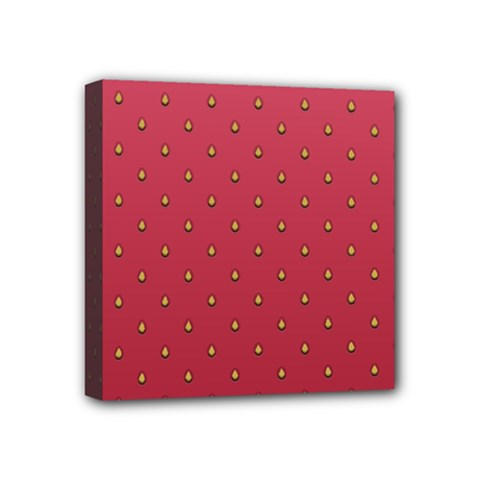 Strawberry Pattern Mini Canvas 4  X 4