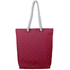 Strawberry Pattern Full Print Rope Handle Tote (small) by jumpercat