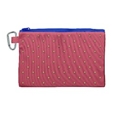 Strawberry Pattern Canvas Cosmetic Bag (large) by jumpercat