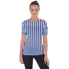 Blue Stripes Short Sleeve Top by jumpercat