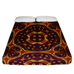 Geometric Pattern Fitted Sheet (california King Size) by linceazul