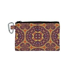 Geometric Pattern Canvas Cosmetic Bag (small)