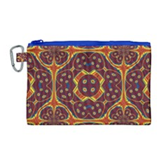 Geometric Pattern Canvas Cosmetic Bag (large)