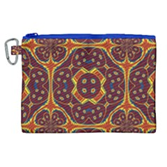 Geometric Pattern Canvas Cosmetic Bag (xl) by linceazul
