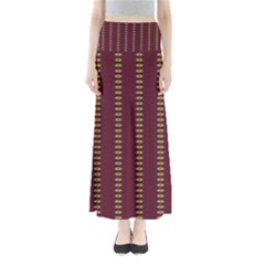 Geometric Pattern Full Length Maxi Skirt by linceazul