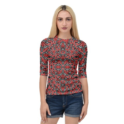 Exotic Intricate Modern Pattern Quarter Sleeve Raglan Tee by dflcprints