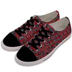 Exotic Intricate Modern Pattern Men s Low Top Canvas Sneakers by dflcprints