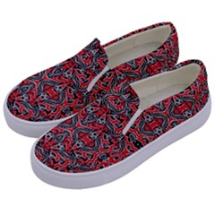 Exotic Intricate Modern Pattern Kids  Canvas Slip Ons by dflcprints