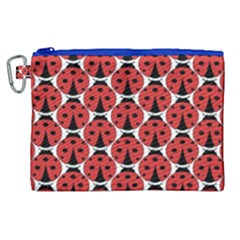 Ladybugs Pattern Canvas Cosmetic Bag (xl) by Cveti