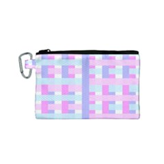 Gingham Nursery Baby Blue Pink Canvas Cosmetic Bag (small) by BangZart