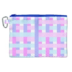 Gingham Nursery Baby Blue Pink Canvas Cosmetic Bag (xl) by BangZart