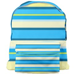 Stripes Yellow Aqua Blue White Giant Full Print Backpack