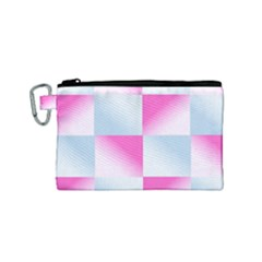 Gradient Blue Pink Geometric Canvas Cosmetic Bag (small)