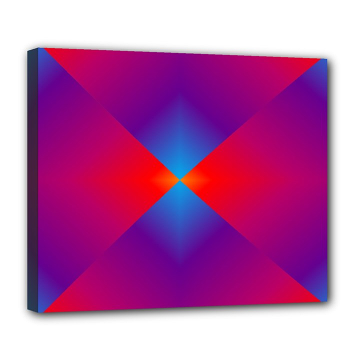 Geometric Blue Violet Red Gradient Deluxe Canvas 24  x 20