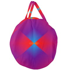 Geometric Blue Violet Red Gradient Giant Round Zipper Tote