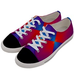 Geometric Blue Violet Red Gradient Women s Low Top Canvas Sneakers by BangZart