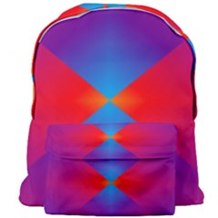 Geometric Blue Violet Red Gradient Giant Full Print Backpack
