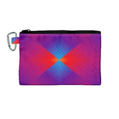 Geometric Blue Violet Red Gradient Canvas Cosmetic Bag (medium) by BangZart