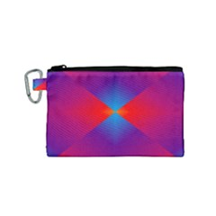 Geometric Blue Violet Red Gradient Canvas Cosmetic Bag (small)