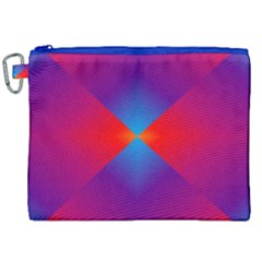 Geometric Blue Violet Red Gradient Canvas Cosmetic Bag (xxl) by BangZart