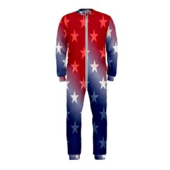 America Patriotic Red White Blue Onepiece Jumpsuit (kids)