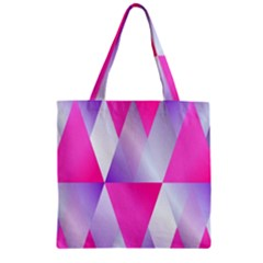 Gradient Geometric Shiny Light Zipper Grocery Tote Bag by BangZart