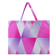 Gradient Geometric Shiny Light Zipper Large Tote Bag