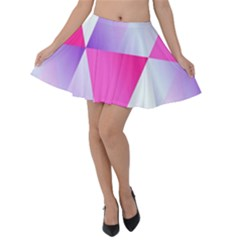 Gradient Geometric Shiny Light Velvet Skater Skirt by BangZart