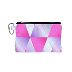 Gradient Geometric Shiny Light Canvas Cosmetic Bag (small)