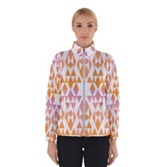 Geometric Abstract Orange Purple Winterwear