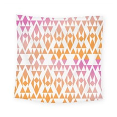 Geometric Abstract Orange Purple Square Tapestry (small)