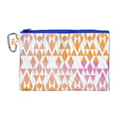 Geometric Abstract Orange Purple Canvas Cosmetic Bag (large)