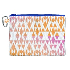 Geometric Abstract Orange Purple Canvas Cosmetic Bag (xl)