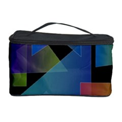 Triangle Gradient Abstract Geometry Cosmetic Storage Case