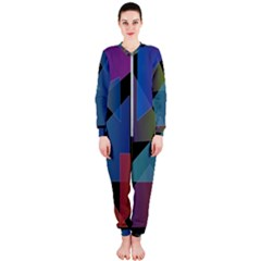 Triangle Gradient Abstract Geometry Onepiece Jumpsuit (ladies)