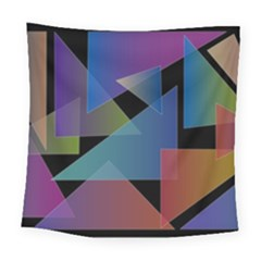 Triangle Gradient Abstract Geometry Square Tapestry (large)
