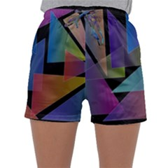 Triangle Gradient Abstract Geometry Sleepwear Shorts by BangZart
