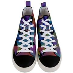 Triangle Gradient Abstract Geometry Men s Mid Top Canvas Sneakers