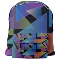 Triangle Gradient Abstract Geometry Giant Full Print Backpack by BangZart