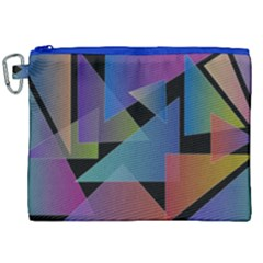 Triangle Gradient Abstract Geometry Canvas Cosmetic Bag (xxl)