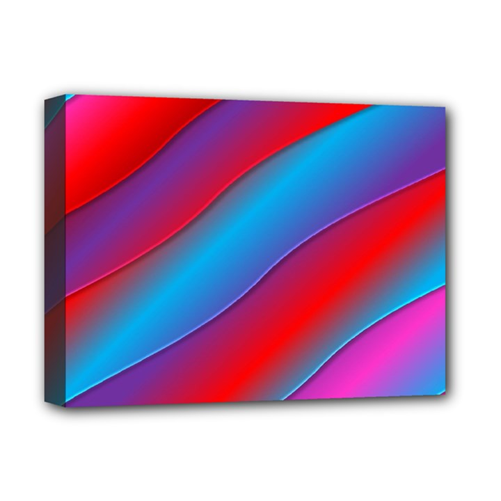 Diagonal Gradient Vivid Color 3d Deluxe Canvas 16  x 12