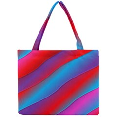 Diagonal Gradient Vivid Color 3d Mini Tote Bag by BangZart