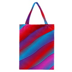 Diagonal Gradient Vivid Color 3d Classic Tote Bag by BangZart