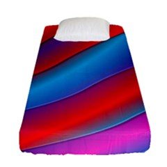 Diagonal Gradient Vivid Color 3d Fitted Sheet (single Size) by BangZart