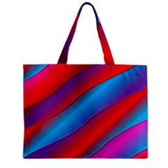 Diagonal Gradient Vivid Color 3d Zipper Mini Tote Bag by BangZart