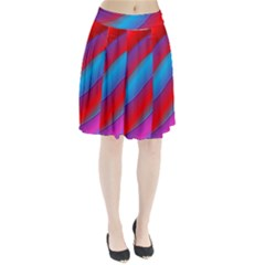 Diagonal Gradient Vivid Color 3d Pleated Skirt by BangZart